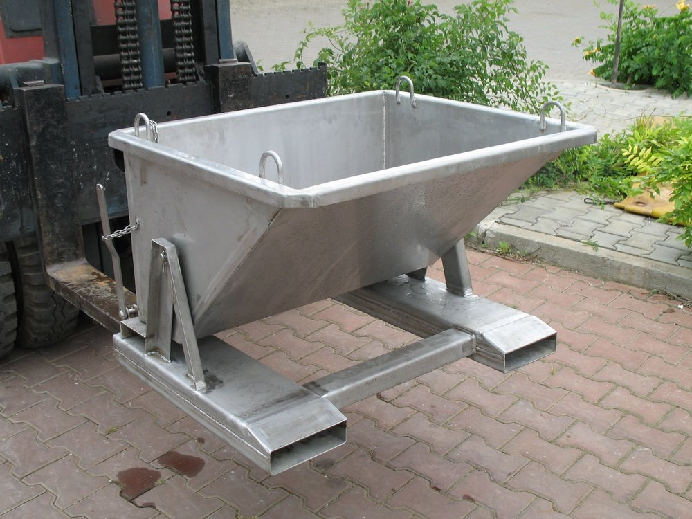 Autoretractable stainless steel container<br />